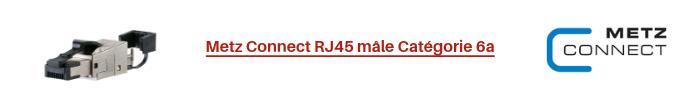 Metz Connect RJ45 mâle Catégorie 6a