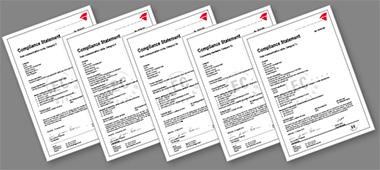 Certificats d'homologation